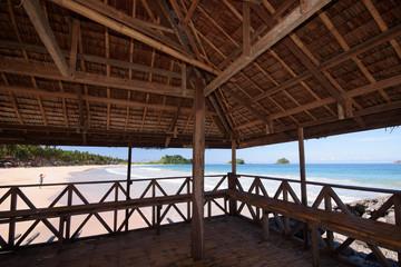Nipa hut at Nakpan Beach, Palawan, Philippines