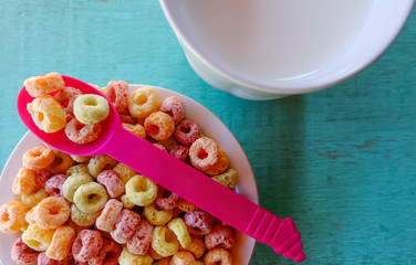 breakfast time with cereal