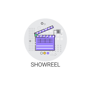 Showreel Correction Camera Film Production Industry Icon Vector Illustration