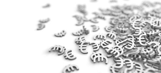Euro Zeichen auf einem Haufen - Konzept Währung, Bank, Sparen