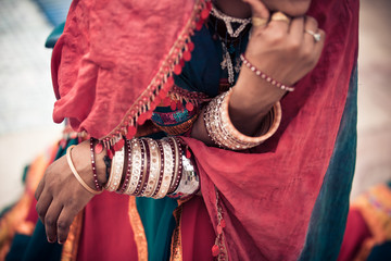 Detail Of Traditional Rajasthani Clothing And Jewellery