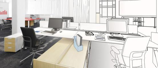 Büroeinrichtung Planung (panoramisch)