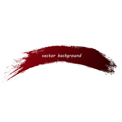 Red brush stroke, vector