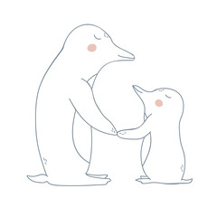 Pinguin Mother and Child