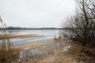 Lake San Daniele in the grip of ice - Winter in Friuli