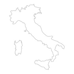 Outline vector Italy map