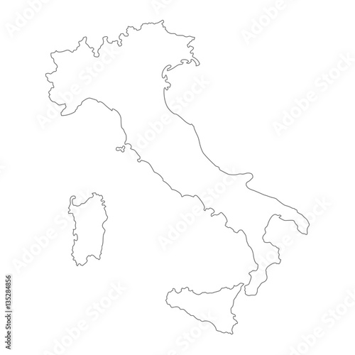 Map Of Italy Outline.Outline Vector Italy Map Stock Image And Royalty Free Vector Files
