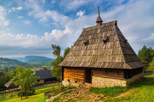 Ethno village Sirogojno in Zlatibor surroundings, open-air museum. Serbia.