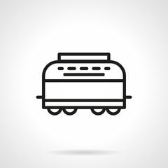 Refrigerator-car simple line vector icon