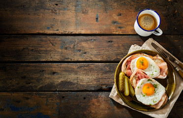 Savory traditional german cuisine with eggs