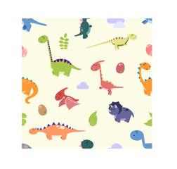 Dinosaurs pattern - vector
