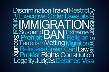 Immigration Ban Word Cloud