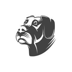 Dog head illustration isolated on white background.
