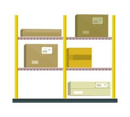 Shelf with Cartoon Box