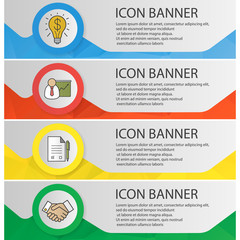 Business banner templates set