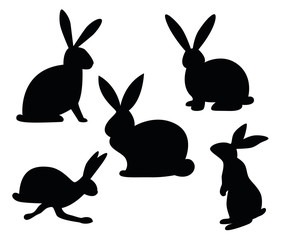 Osterhase Silhouette Set