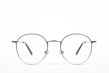 Circle vintage metal glasses