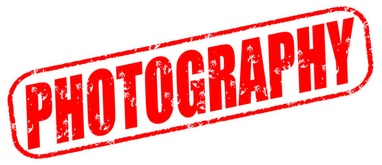 Photography on the white background, red illustration