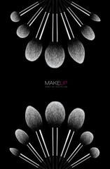 Fine art Makeup concept. Cosmetics brush set