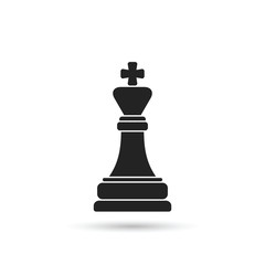 Chess king icon. Vector.