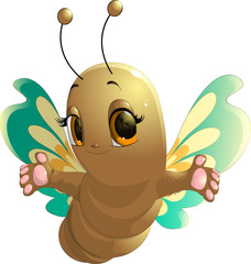 cheerful cute butterfly