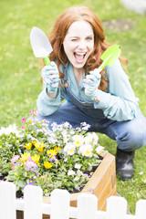 Freude beim Einpflanzen