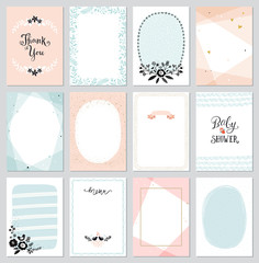 Contemporary universal cards templates.  Design for invitations, posters, placards, brochures and flyers.