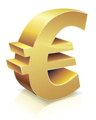 euro en or (reflet)
