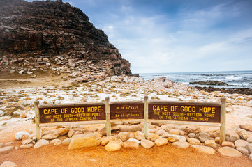 The Cape of Good Hope on the Atlantic coast of Cape Peninsula, S