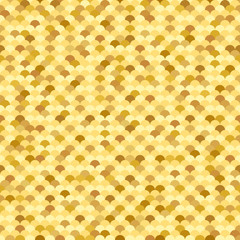 Golden seamless pattern with fish scale texture