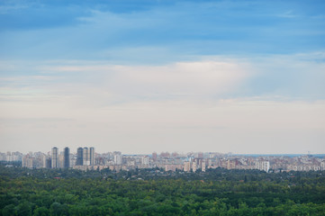panorama of the city with a bird-eye view