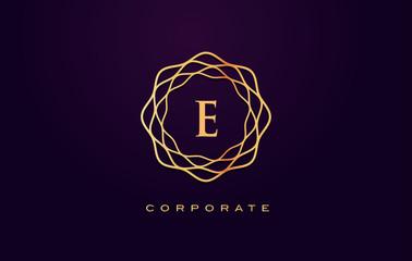 e Luxury Logo. Monogram Letter Design Vector