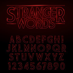 Vector Glowing Vintage Stylized Alphabet