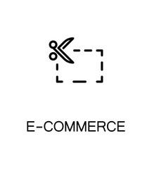 E-commerce flat icon.