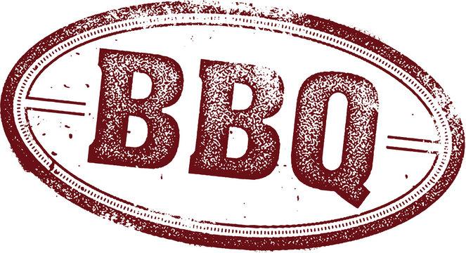Vintage BBQ Menu Design Stamp