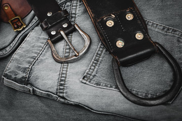 Jeans and belt