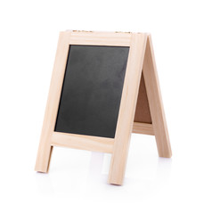 Menu blackboard Isolated on white background