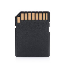 memory card on white background