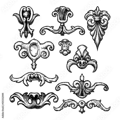Baroque and renaissance decorative design elements for Baroque architecture elements