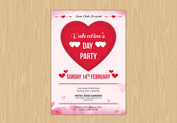 Valentine's Day Event Flyer Layout 2