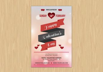 Valentine's Day Event Flyer Layout 3
