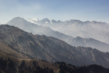 high mountains in Kazakhstan near Almaty city