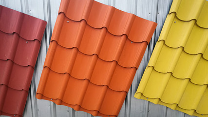 Colorful painted Metal roof