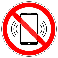 srr93 SignRoundRed - german - Verbotszeichen: Handyverbot / Telefonieren verboten - smartphone - english - prohibition sign - cell phones / use of mobile phones is prohibited - xxl g4986