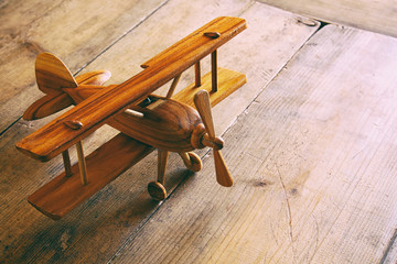 old wooden plane toy