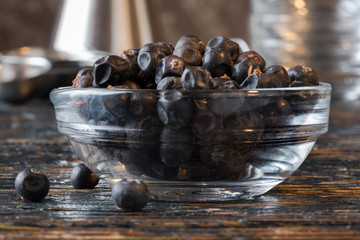 Juniper berries in an ingredient bowl
