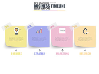 Infographic business number options data visualization