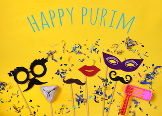 Purim celebration concept (jewish carnival holiday)