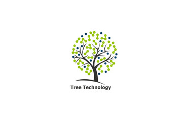 tree technology vector logo