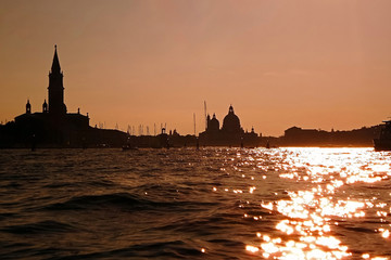 View a contrast sunset in Venice 1